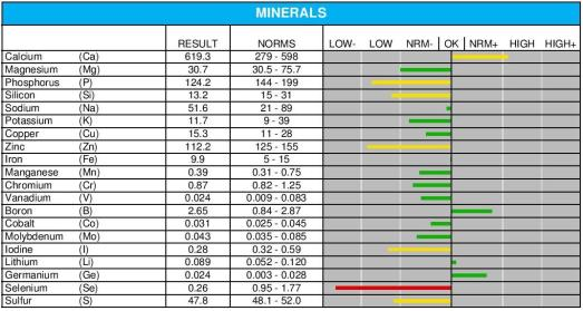 Minerals-Result